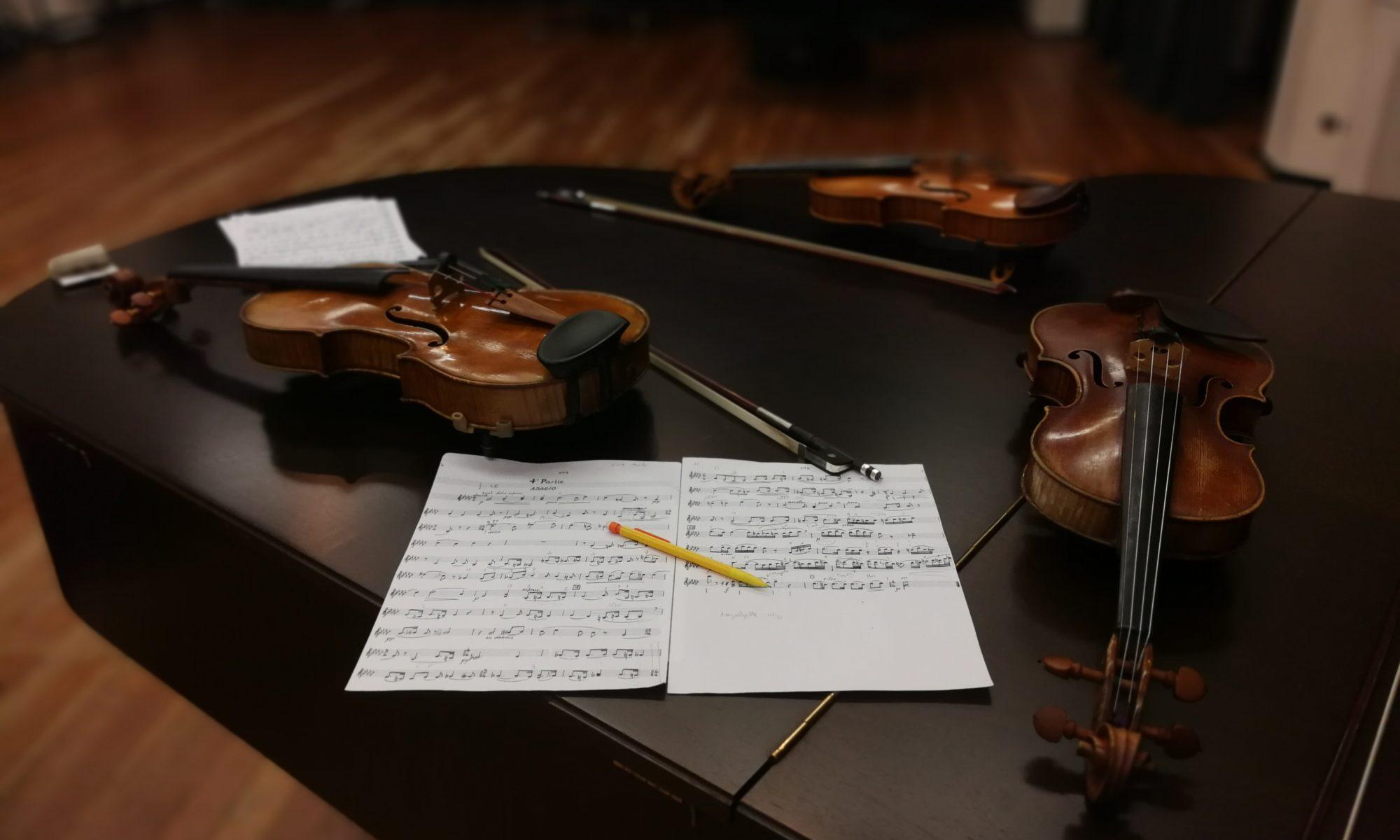 enregistrement quatuor à cordes